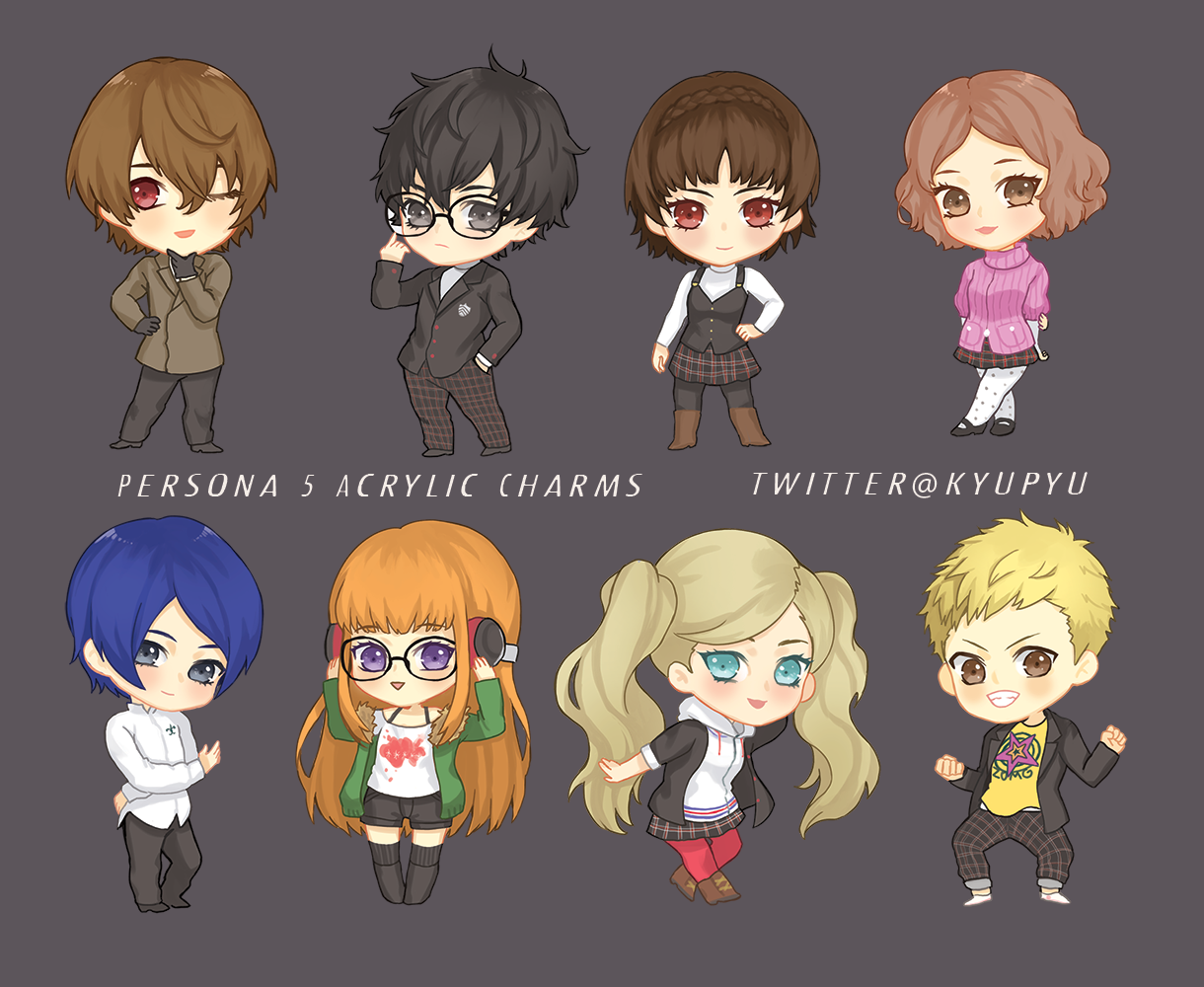 Image of Persona 5 Acyrlic Charms -LAST STOCK-