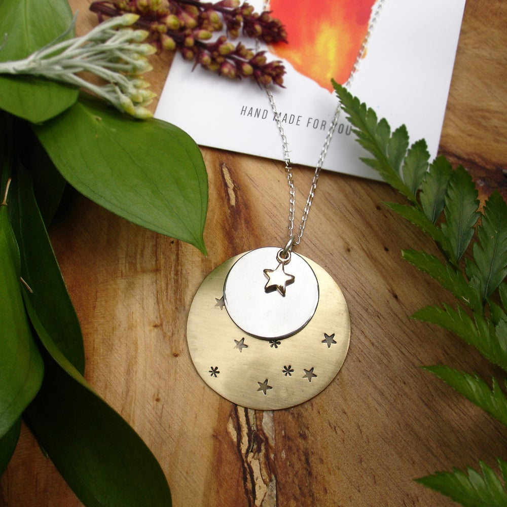 Image of Skyla- Moon And Stars Necklace