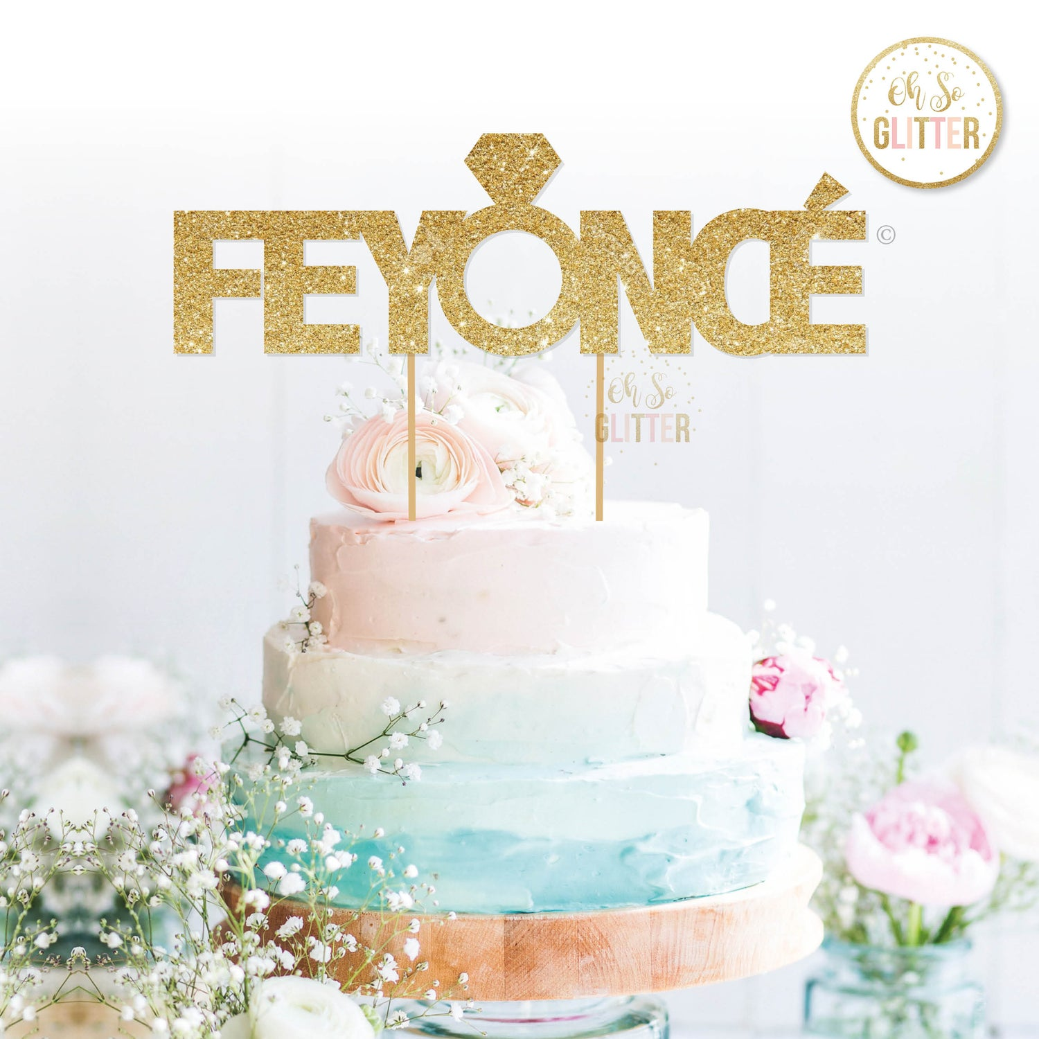 Image of Feyonce cake topper