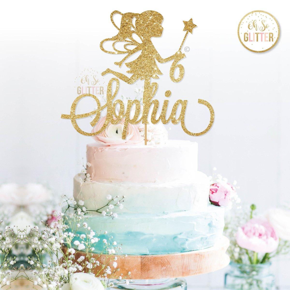 Fairy Cake Topper Oh So Glitter