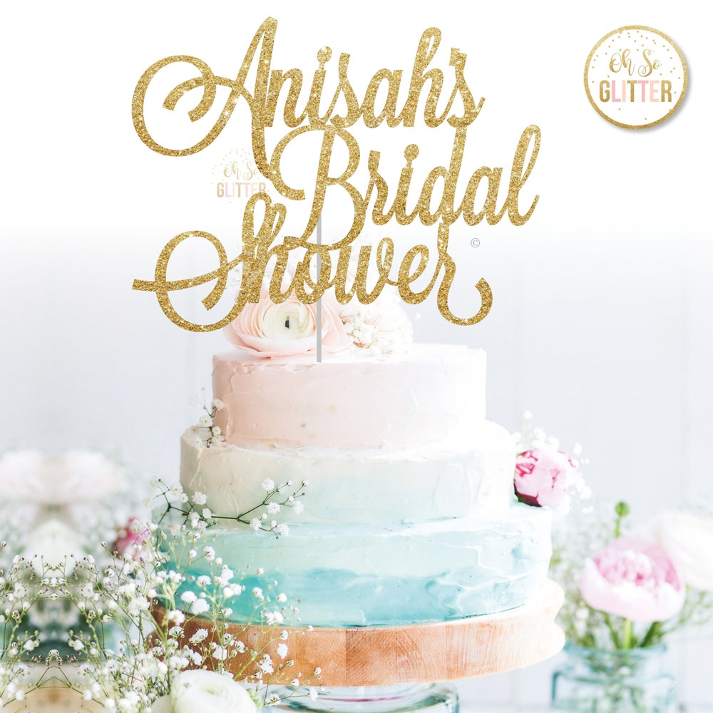 Image of Bridal Shower Cake Topper