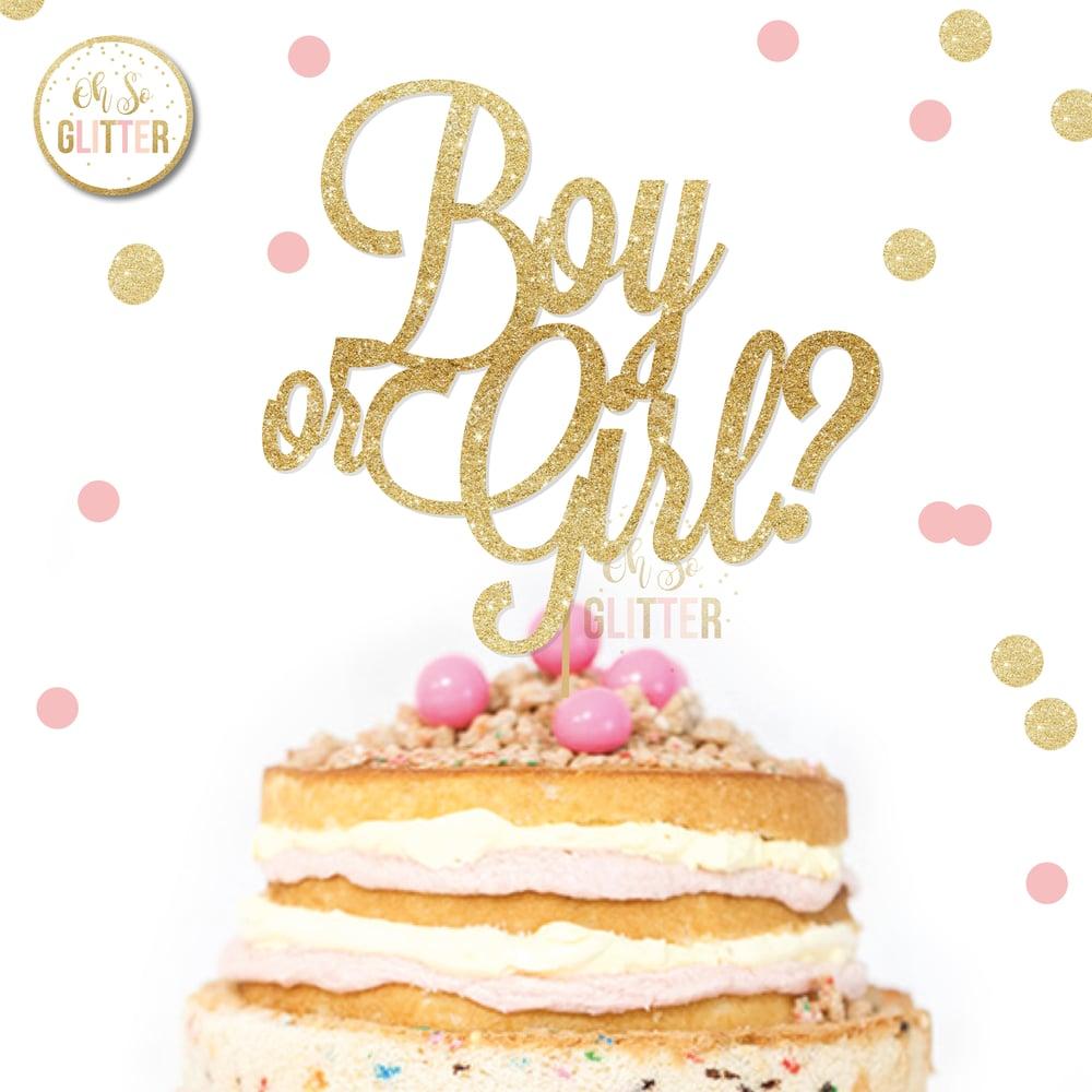 Image of Boy or Girl cake topper