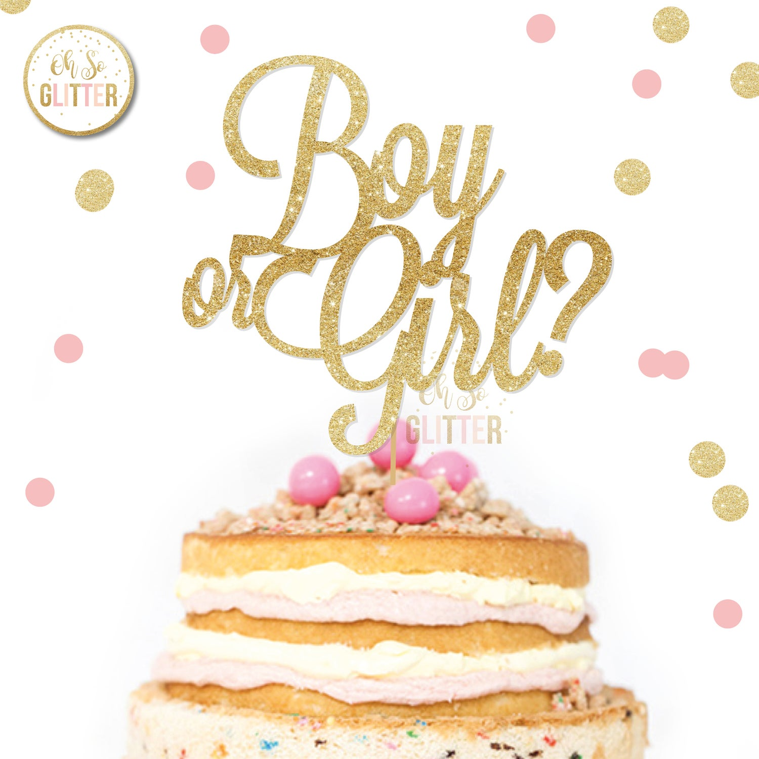 Image of Boy or Girl cake topper