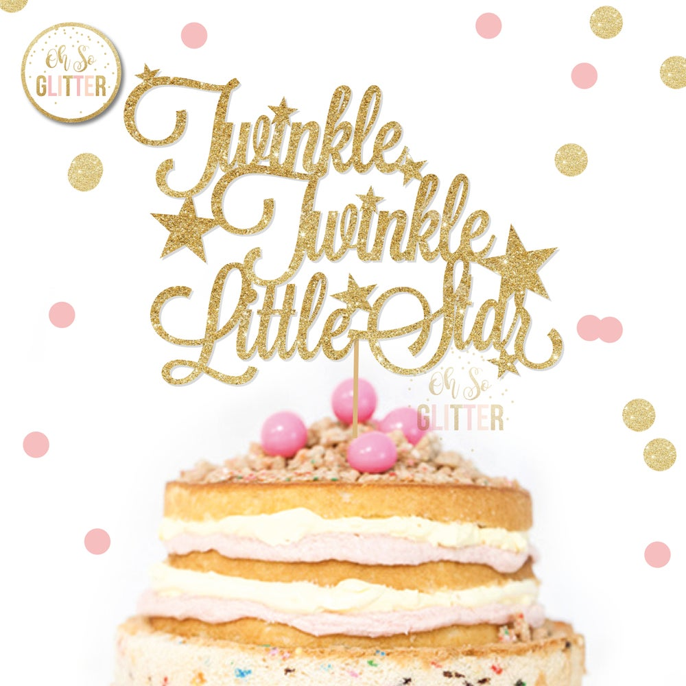 Image of Twinkle Baby Shower cake topper