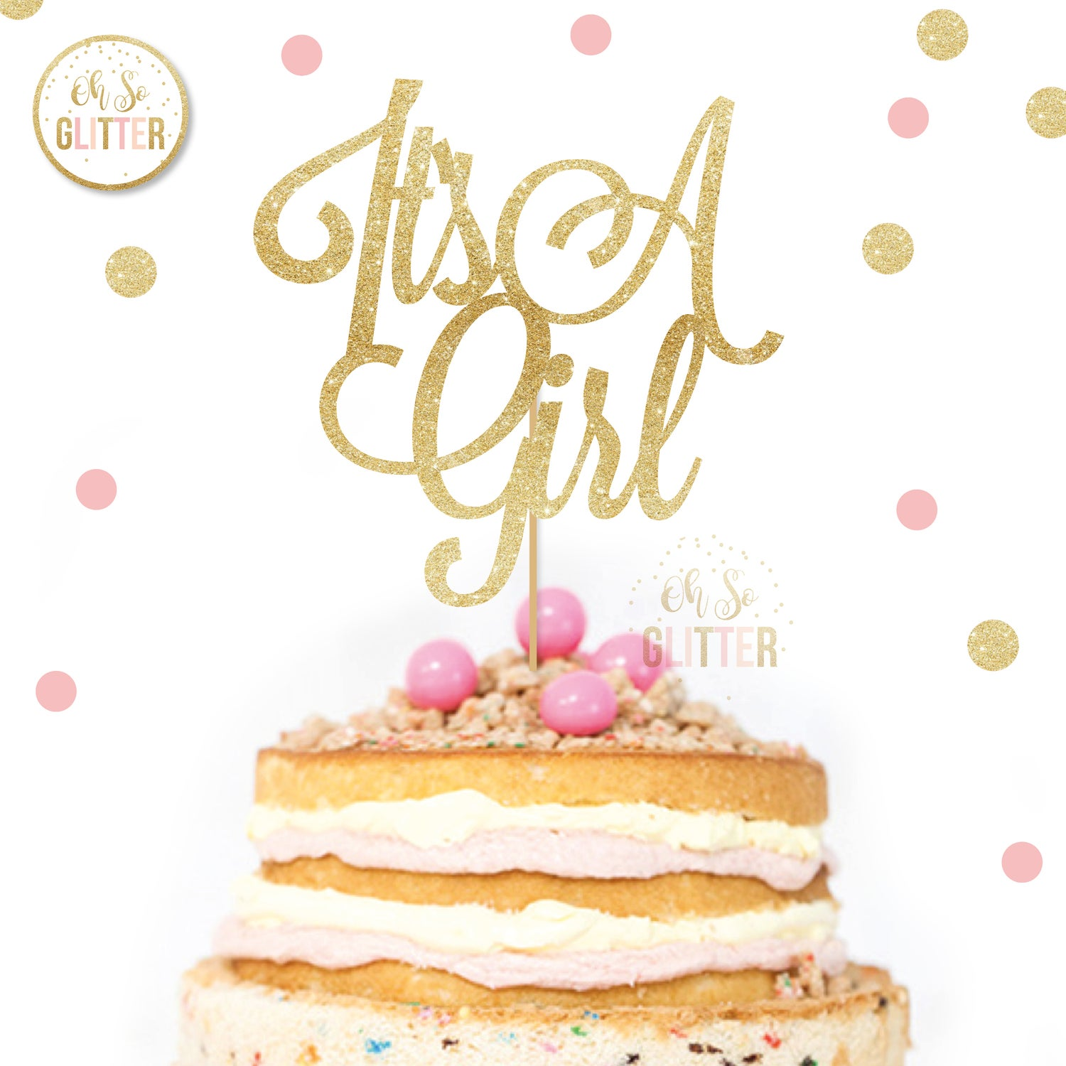 Image of It's a Girl cake topper
