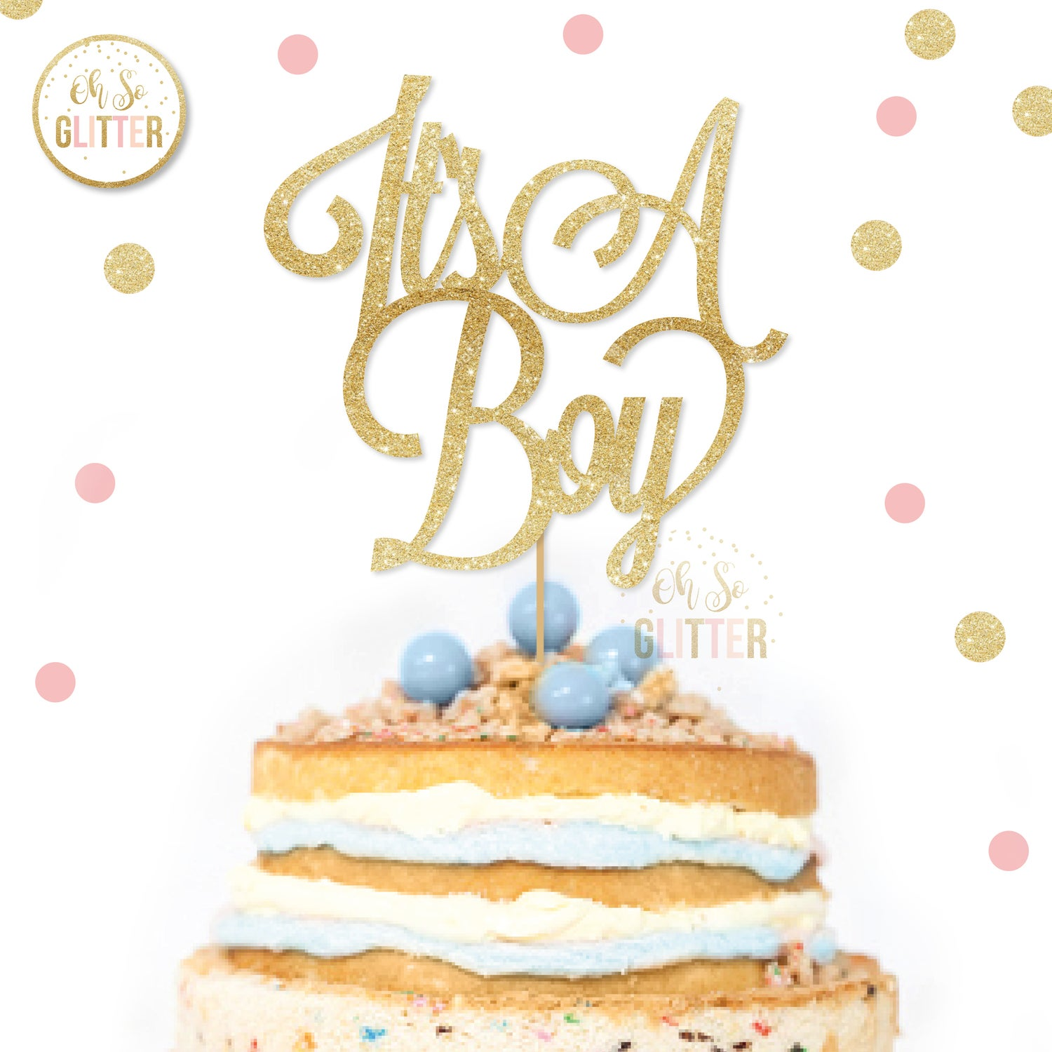 Image of It's a Boy cake topper
