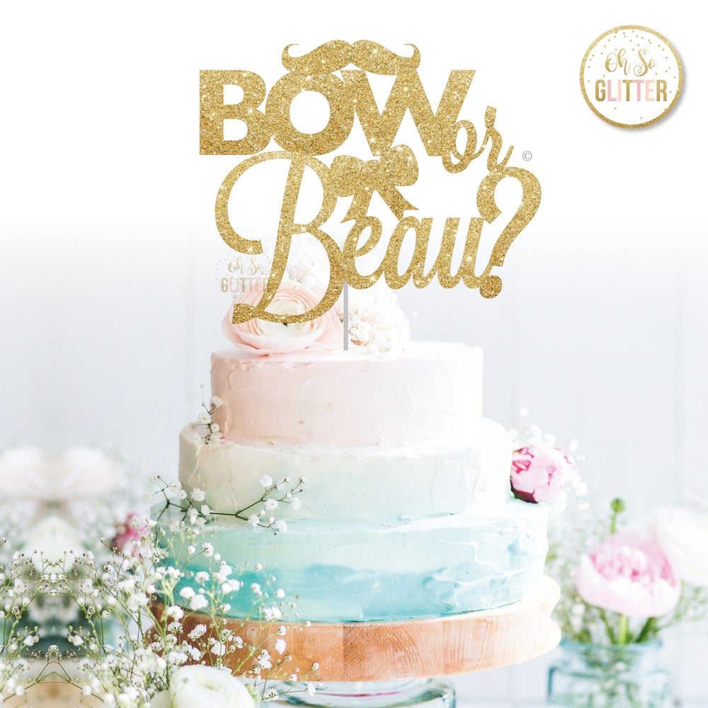Image of Bow or Beau Cake Topper
