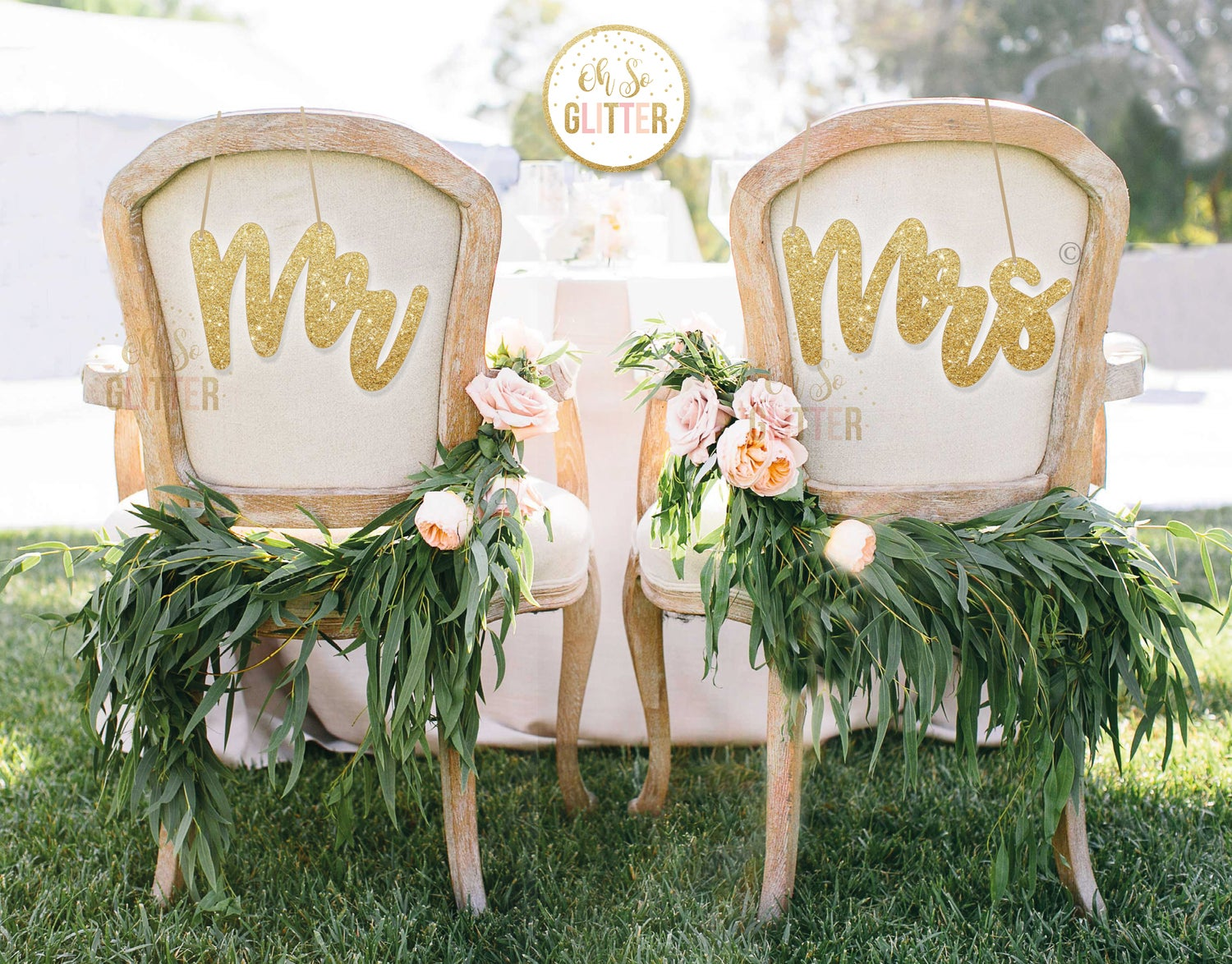 Image of Glitter Chair signs