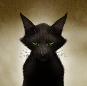 "Image of Cat O' Lantern 11"" X 16"""