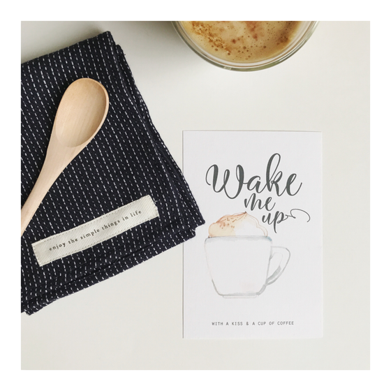Image of Carte WAKE ME UP (avec enveloppe)