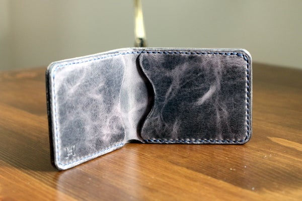 Image of Modified Bifold in Horween Cascade Grey Vintage