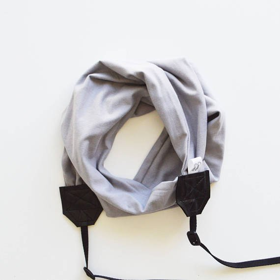 Image of Scarf Camera Strap Knit Stretch Comfy Handmade | Best Photographer Gift 2018