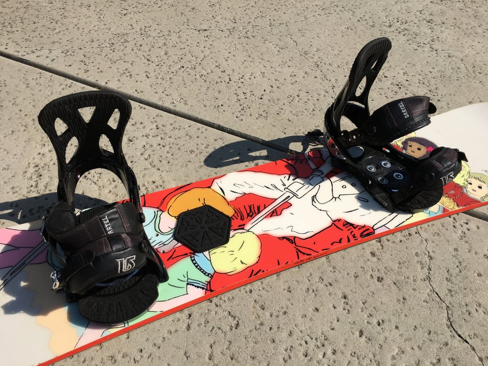 Image of Capita Mid Life Artist 158 Snowboard with Burton Cartel lrg bindings