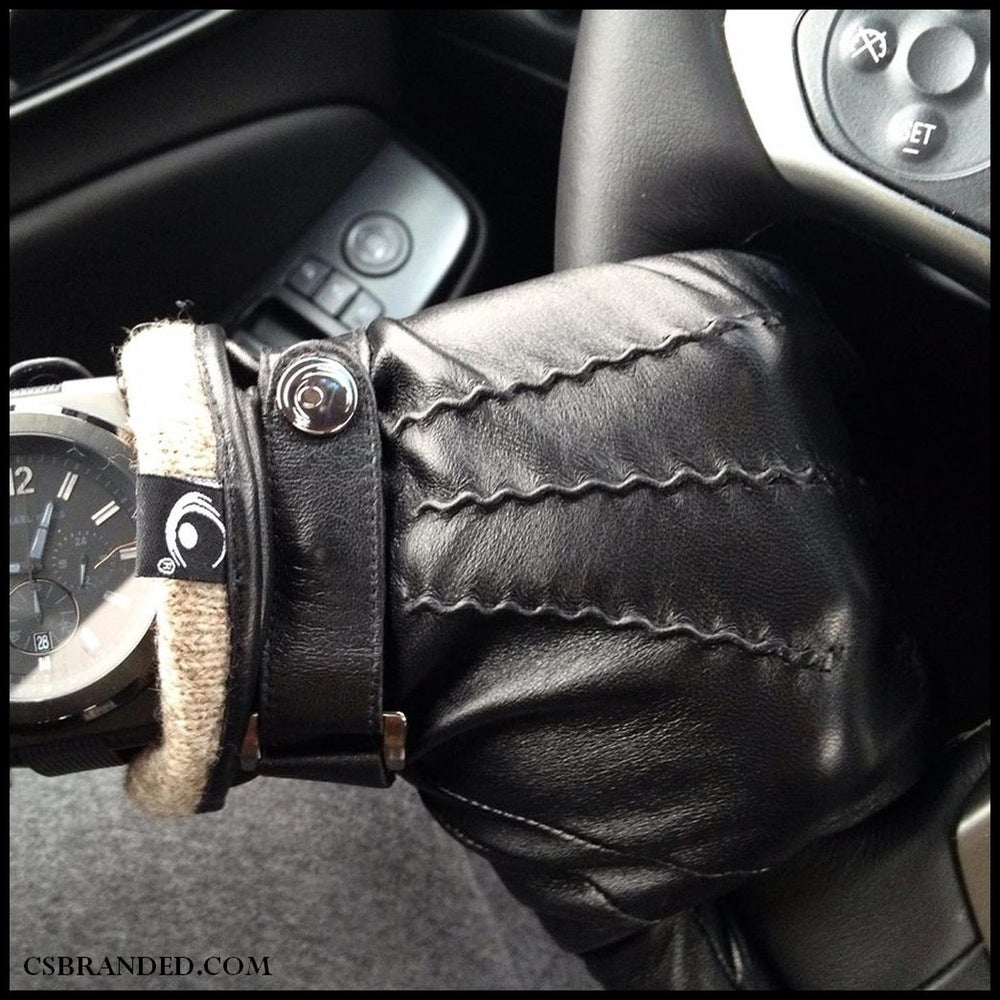 Image of The Active Palm ➐™ Men's Genuine Touchscreen Leather Gloves (Close out)
