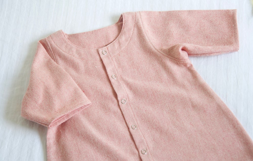Image of Rosehip Cotton Flannel Onesie