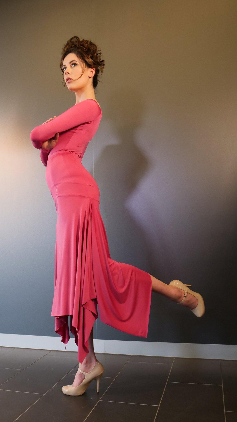 Image of Barcelona Skirt - Fuchsia J3346 Dancewear latin ballroom