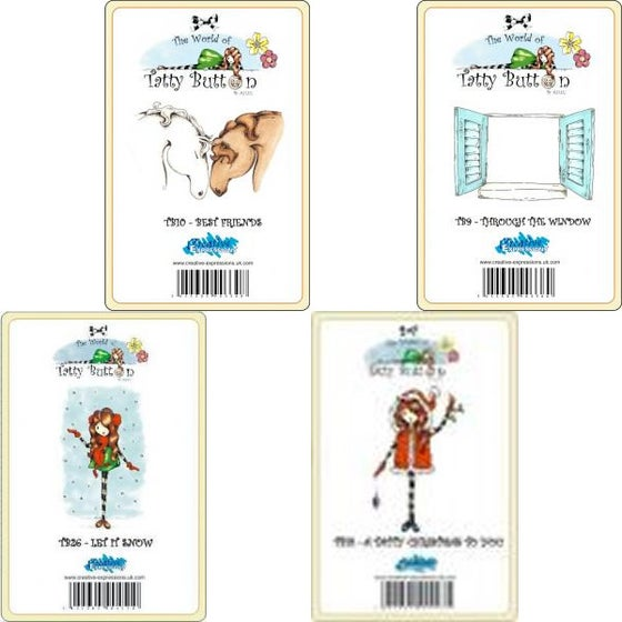 Image of Tatty Button Stamp set 2 [Individually - £2.95]