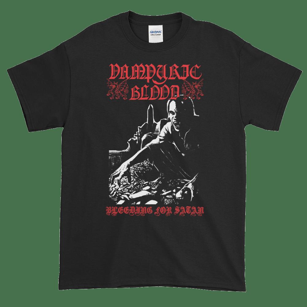 """Image of Vampyric Blood - """"Bleeding for Satan"""" shirt"""