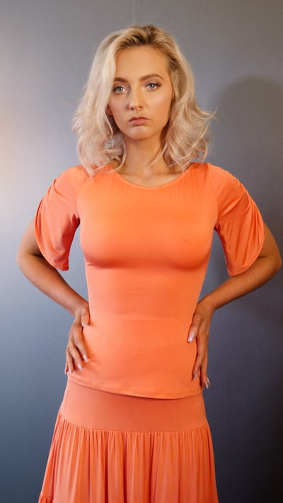 Image of Mousse Top - Orange E1308