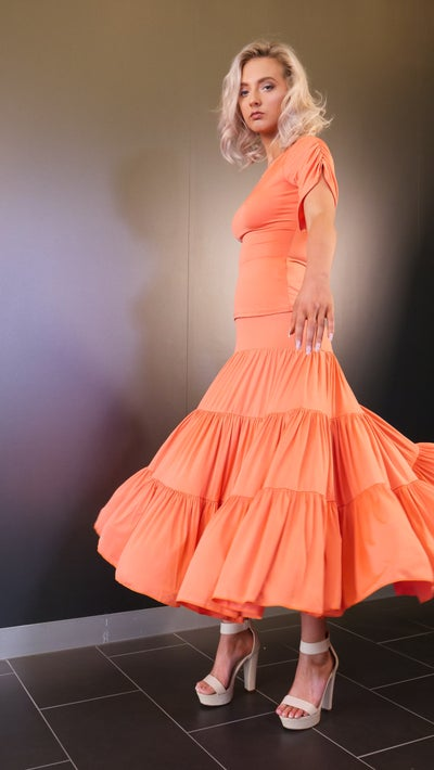 Image of Cloud Skirt - Orange J3302