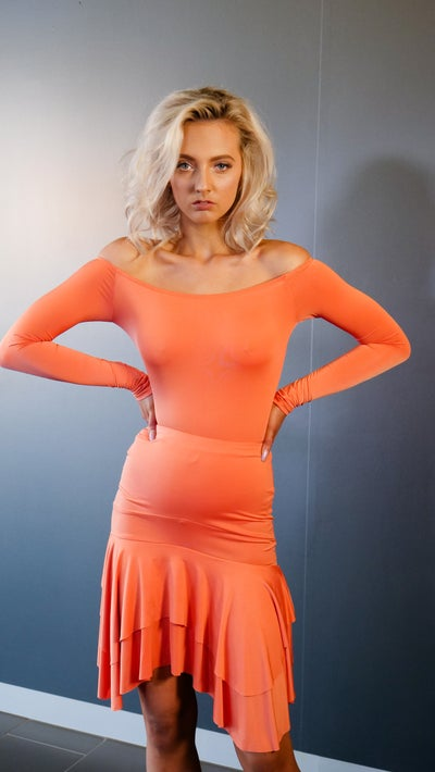 Image of Salsa Skirt- Orange J3347