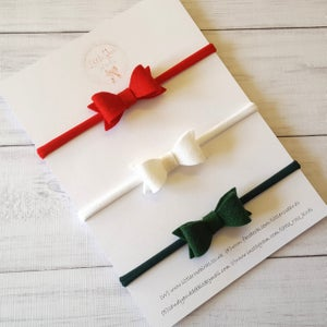 "Image of Mini Felt Bow Set 2"" - Choice of Colour"
