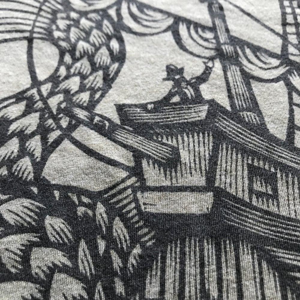 T-Shirt: Serpent and Ship
