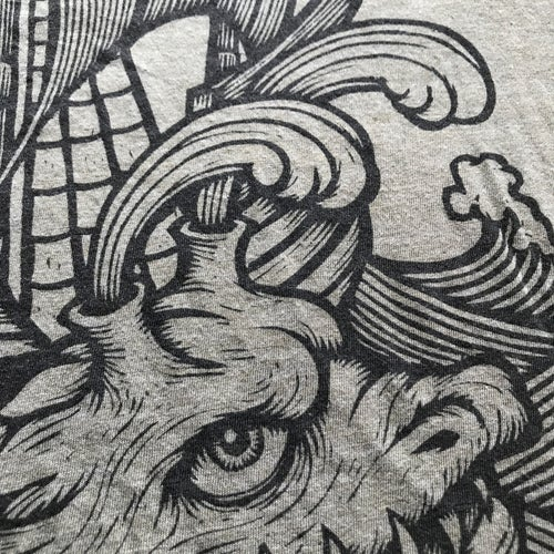 Image of T-Shirt: Serpent and Ship