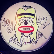 Image of personalized, custom drum head by Joe Letz
