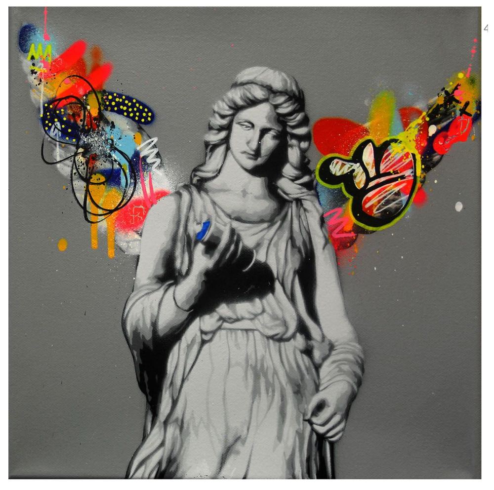 "Image of MARTIN WHATSON ""ANGEL"" UNIQUE ORIGINAL CANVAS - 2014"