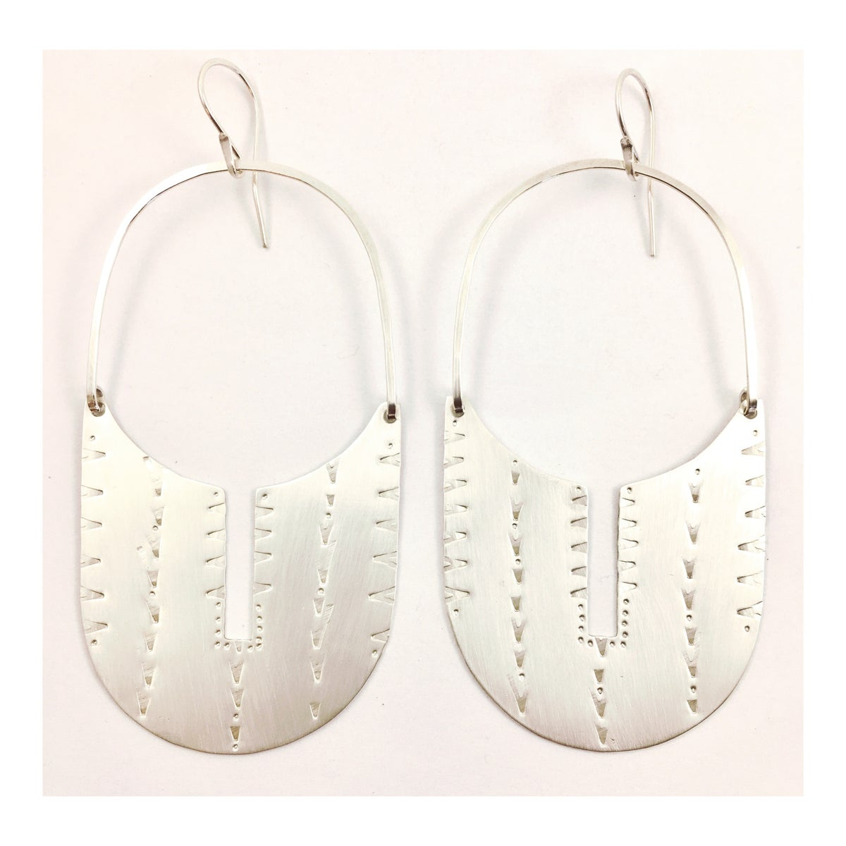 Image of Sterling Silver SheRah Hoops