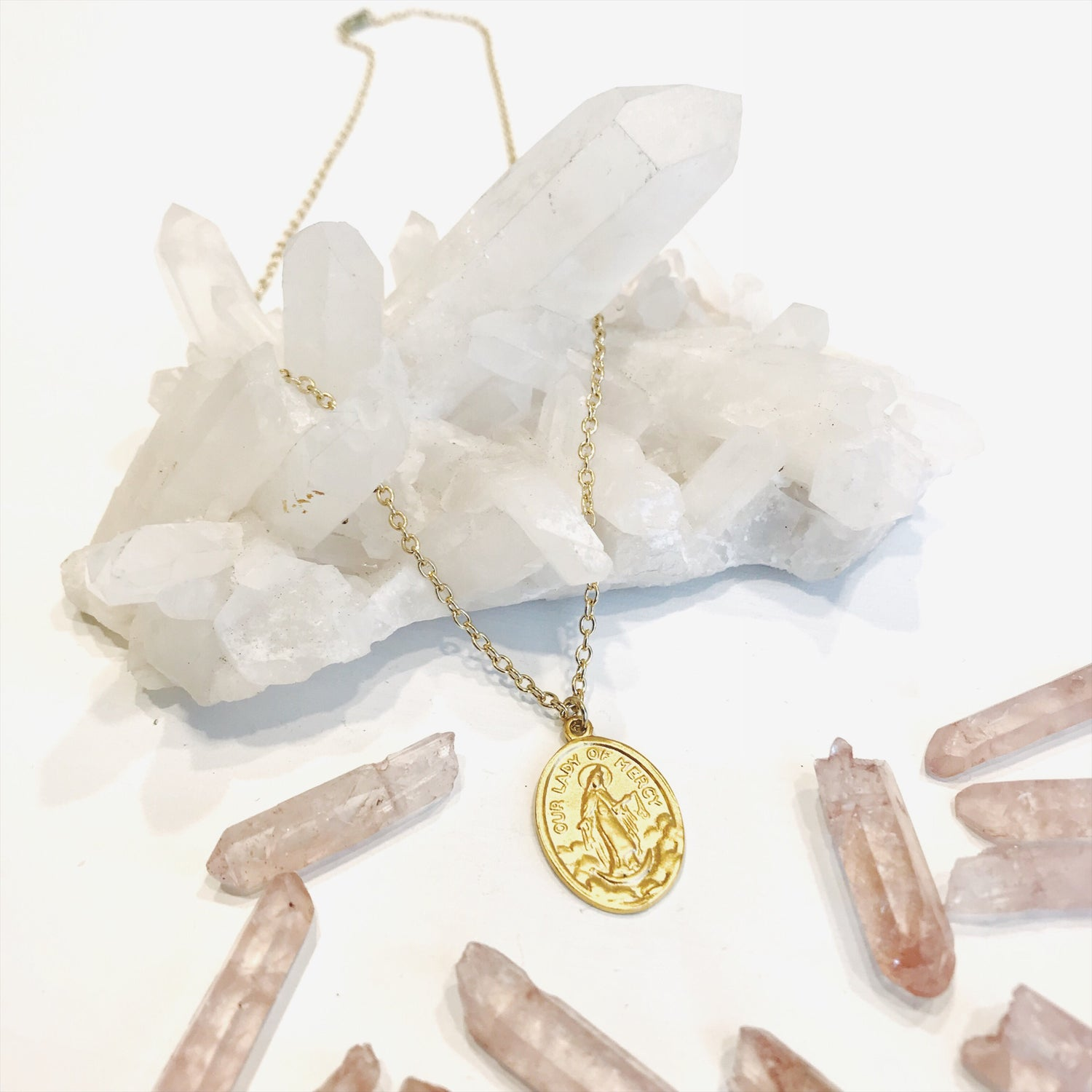 Image of Lady Of Mercy Gold Pendant