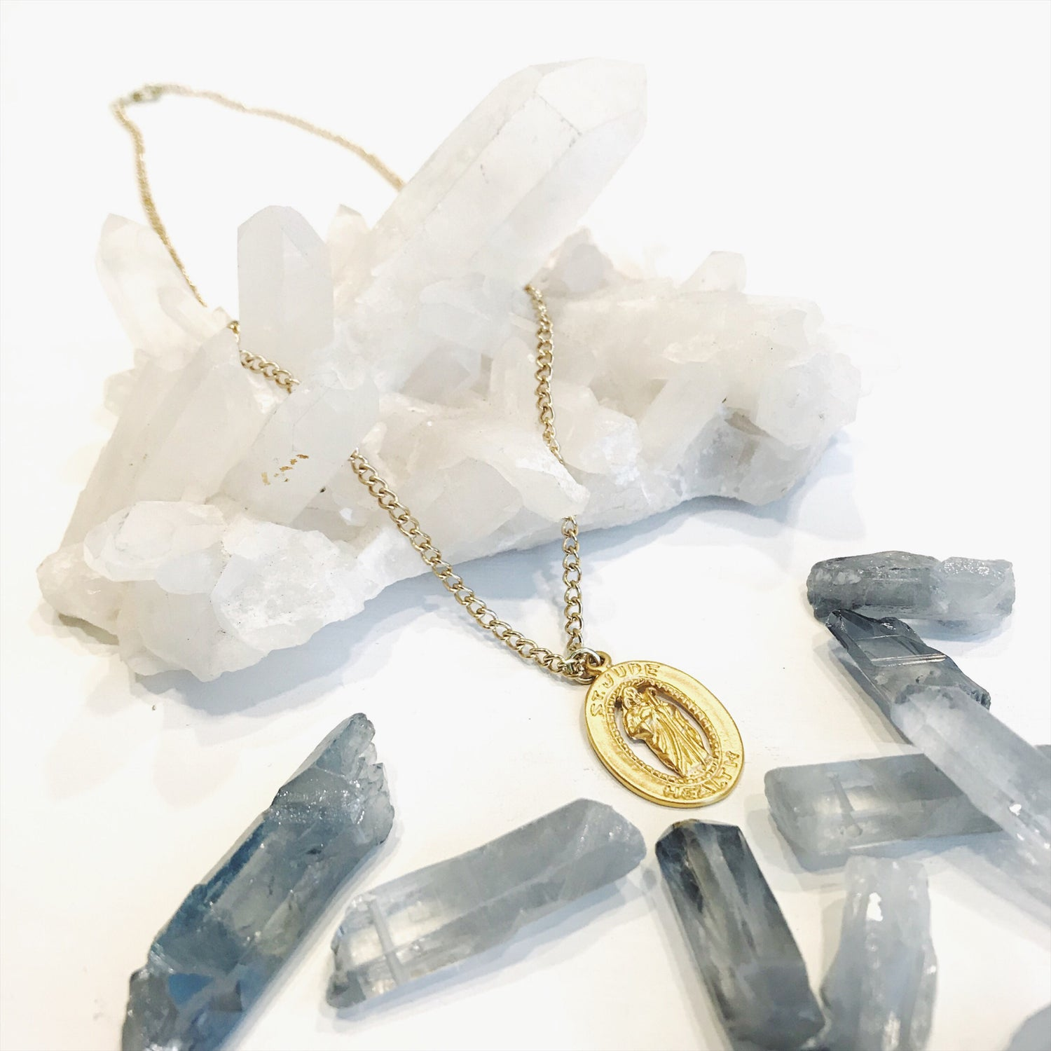 Image of Gold Saint Jude Necklace