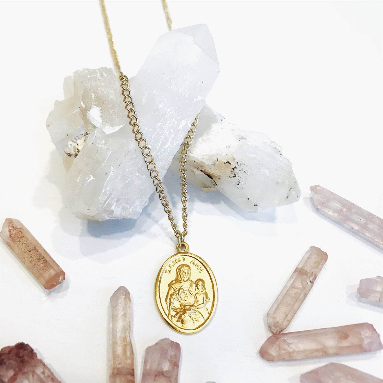 Image of Saint Ann Gold Pendant