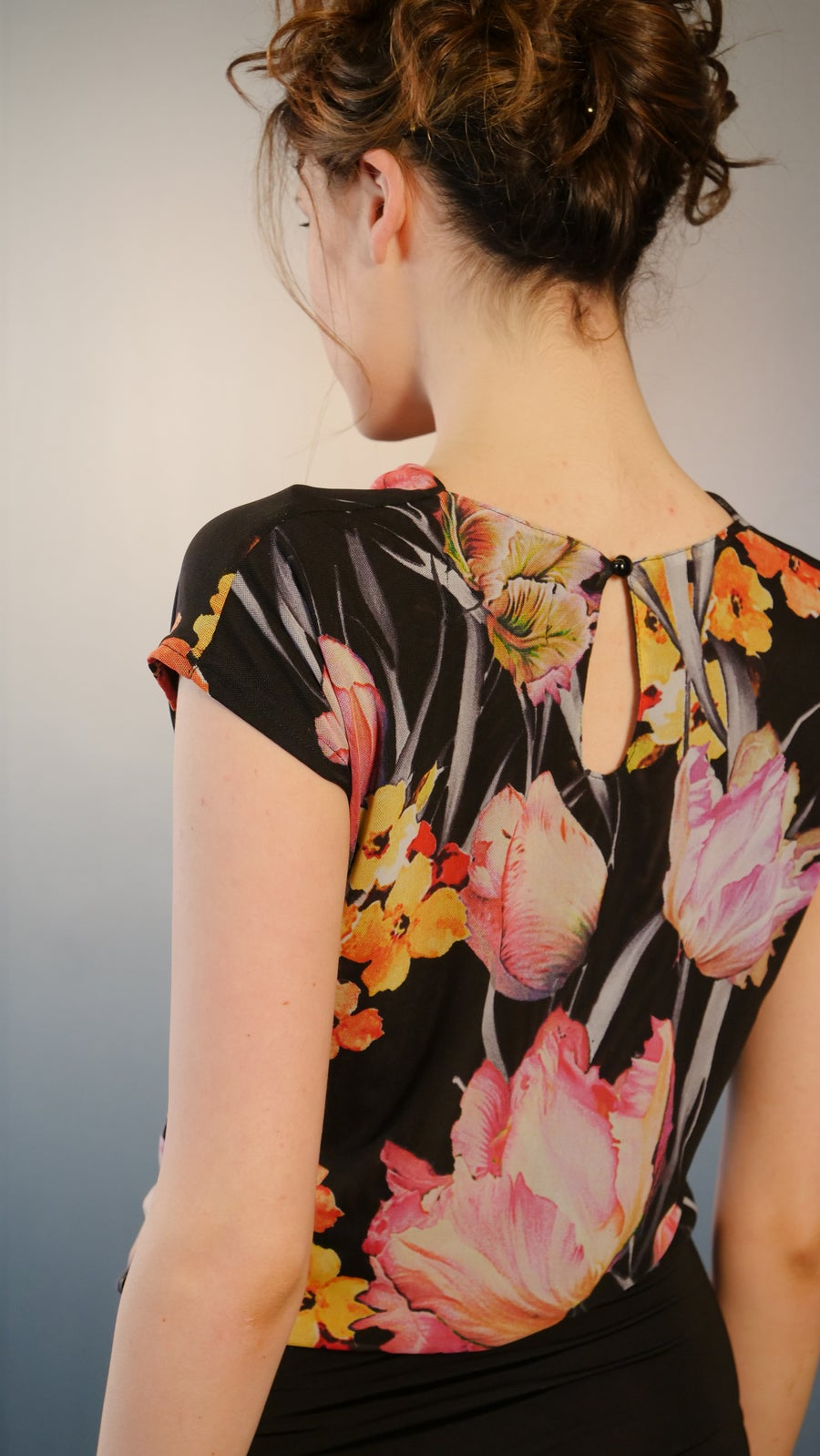 Image of Rikoko Top - Floral E1289/E7153 Dancewear latin ballroom