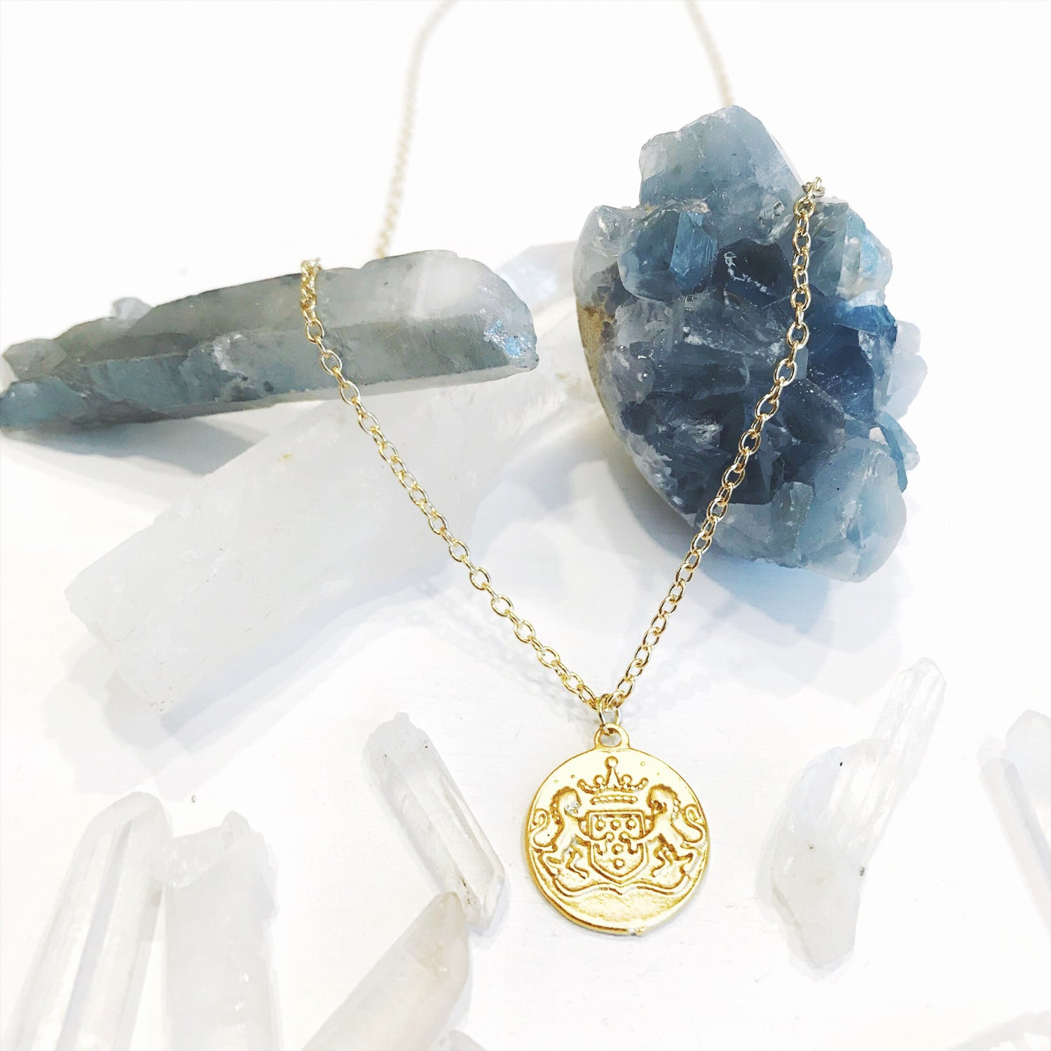 Image of Gold Crest Pendant