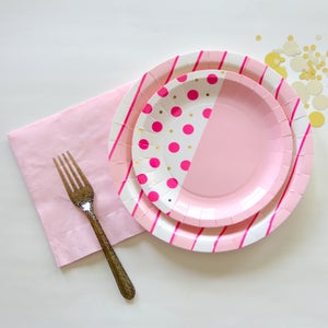 Image of Cake Foil Napkins - Cotton Candy Pink