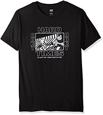 Image of OBEY - HARD TIMES (BLACK)