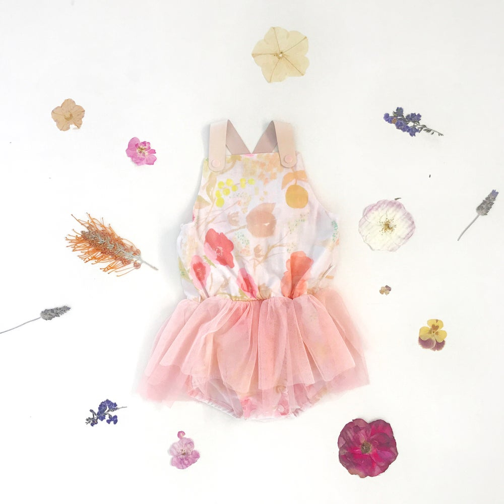 Image of girl gauze halo tutu playsuit | sugar pink
