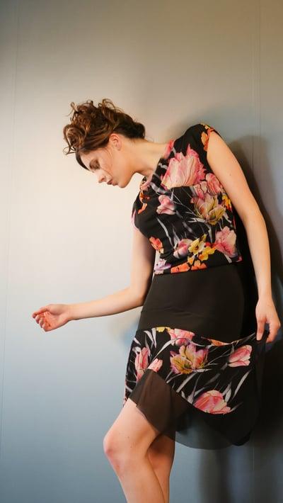 Image of Salsa Skirt - Floral/Black J10112