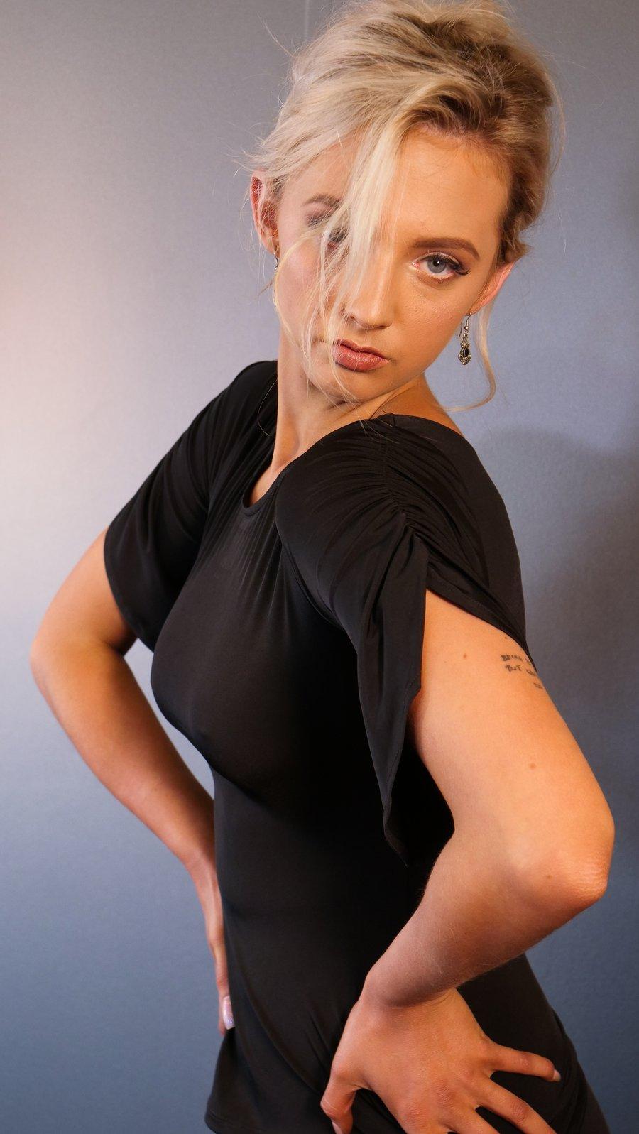 Image of Mousse Top - Black E1308 Dancewear latin ballroom