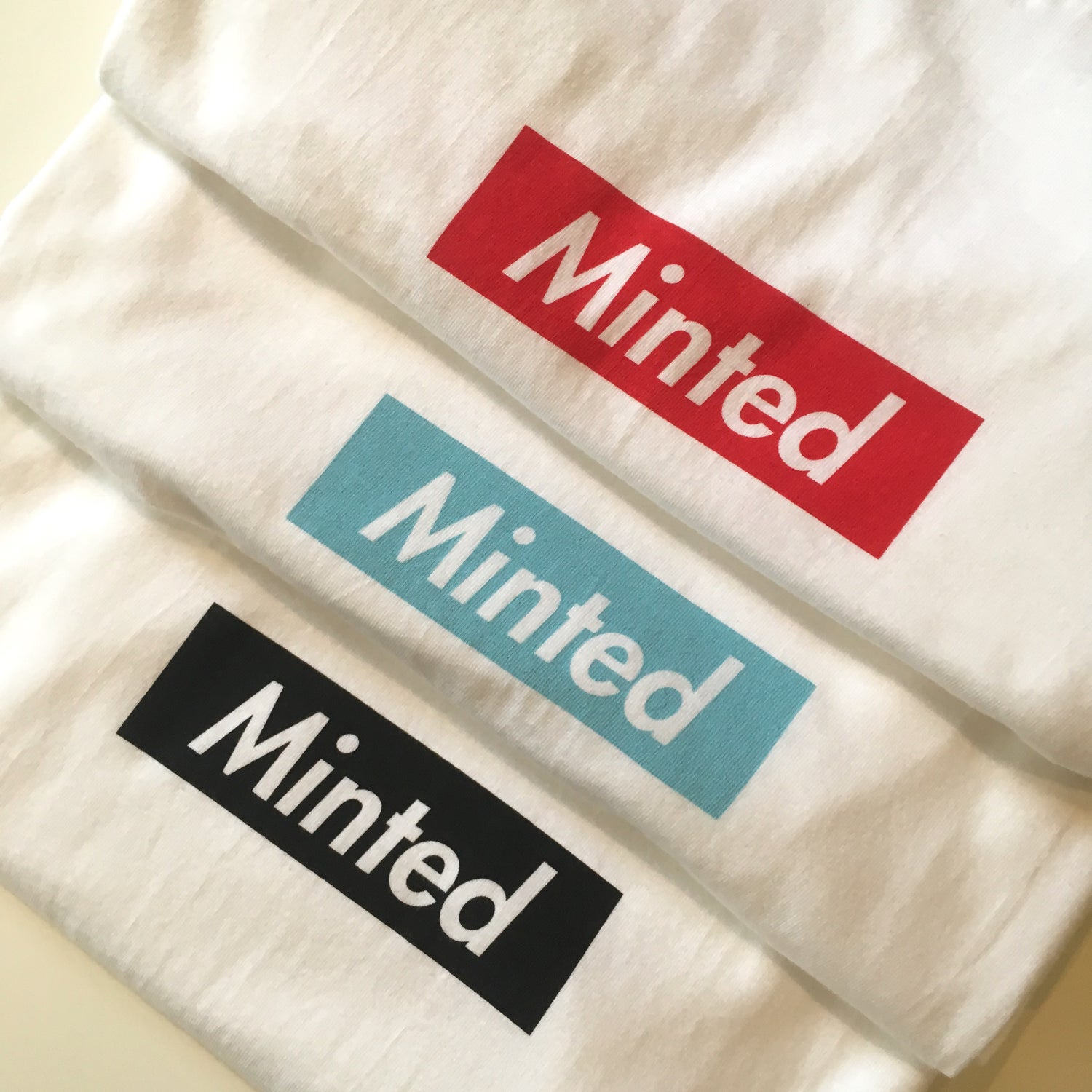 Image of Minted Box Logo - Long Sleeve (Red)