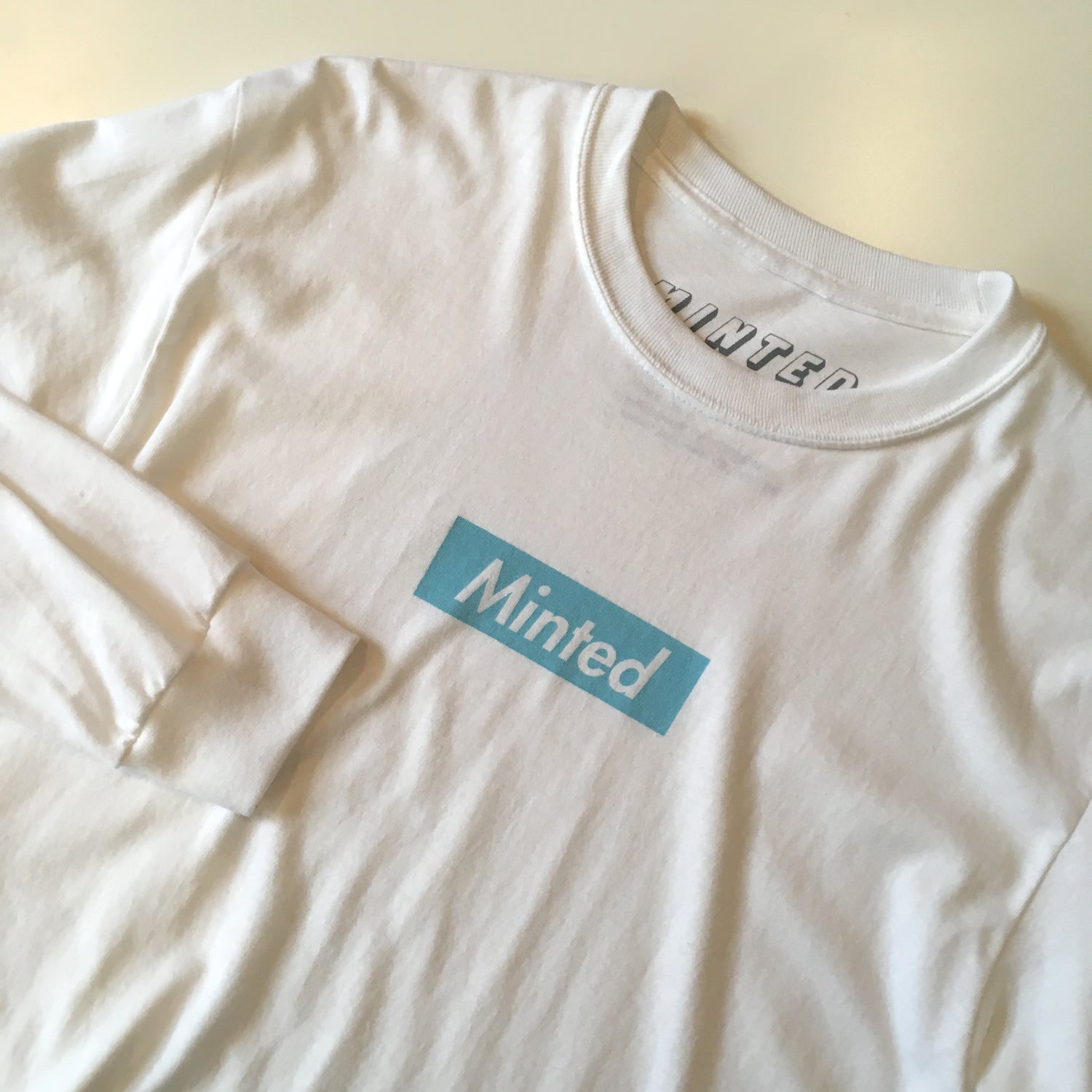 Image of Minted Box Logo - Long Sleeve (Baby Blue)
