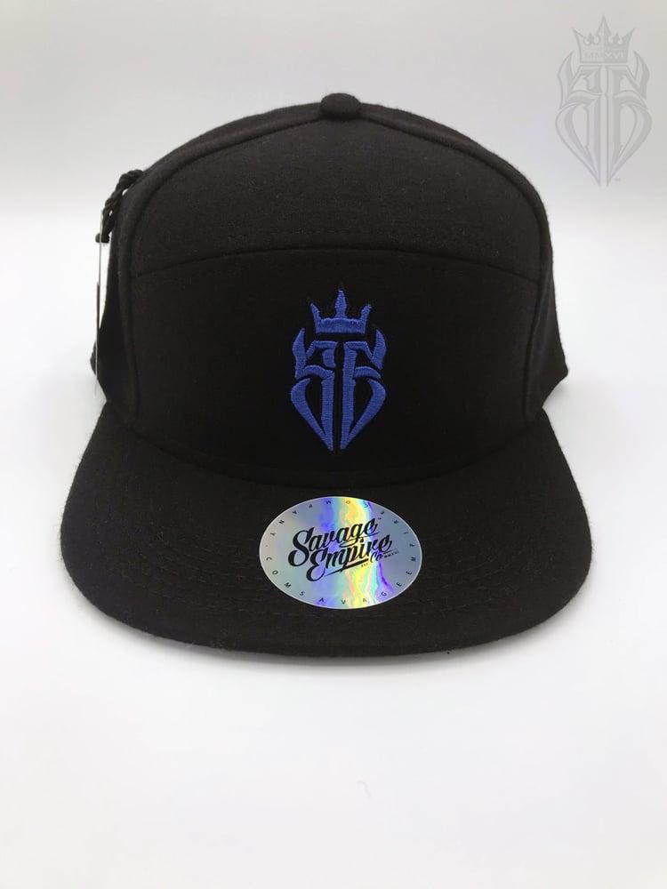 Image of BlackOut EDITION SavageKing Black/Blue Hat