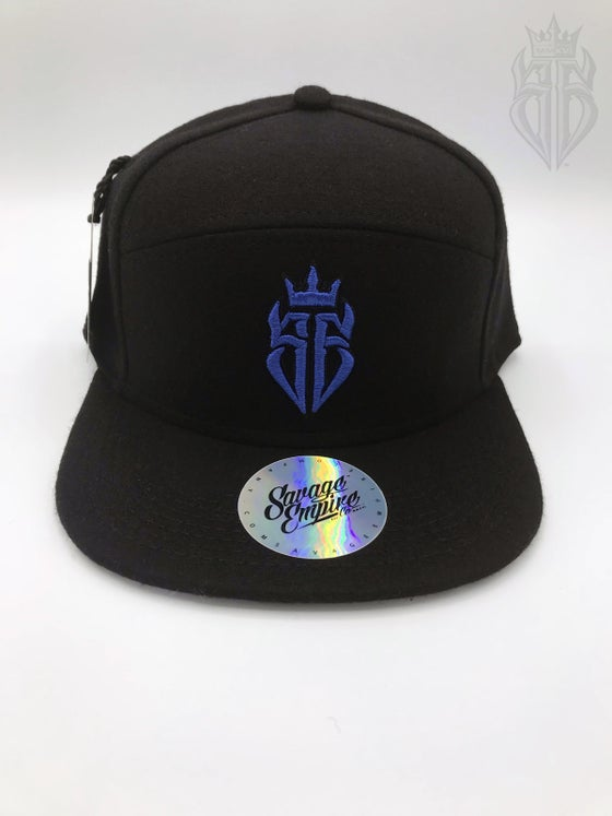 Image of BlackOut EDITION SavageKing Black/Blue Hat