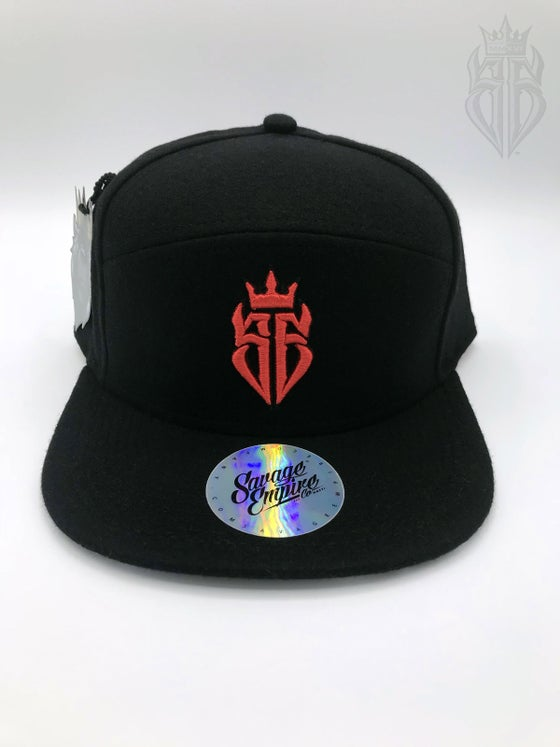Image of BlackOut EDITION SavageKing Black/Red Hat