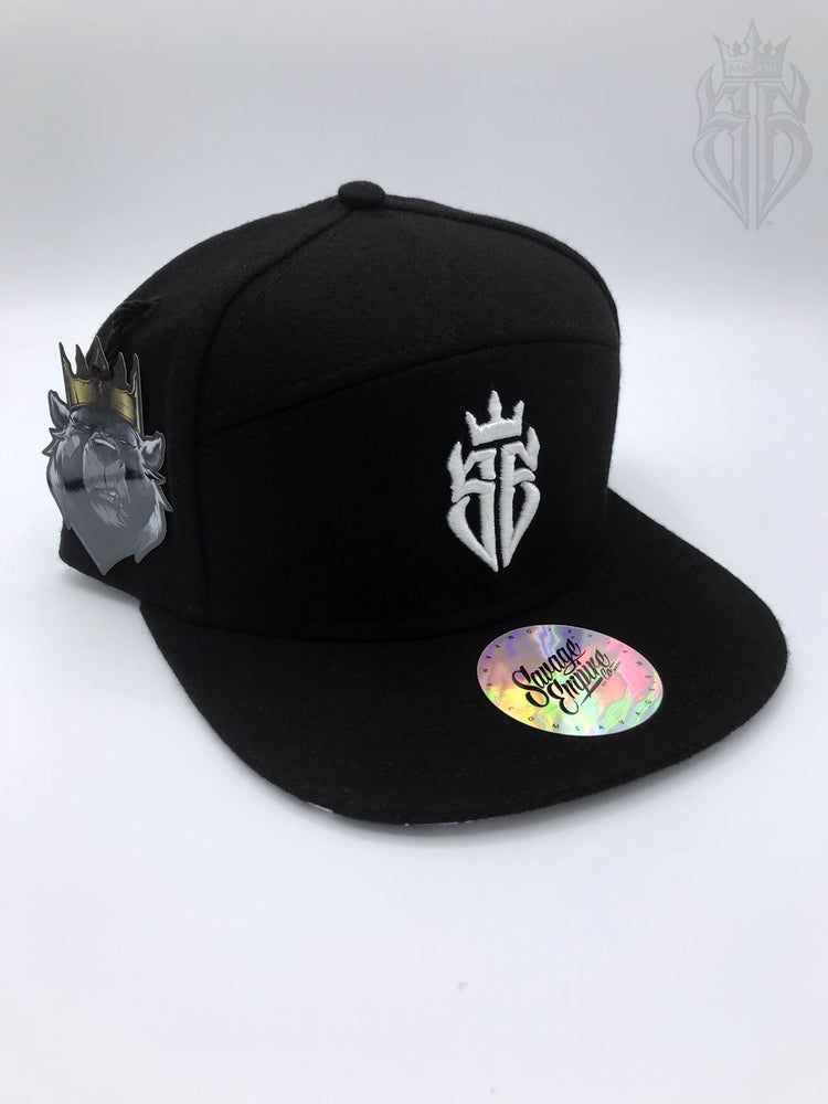 Image of BlackOut EDITION SavageKing Black/White Hat