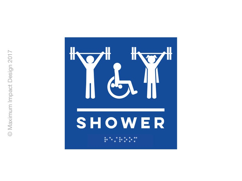 Image of Braille Shower Handicap ADA Signage