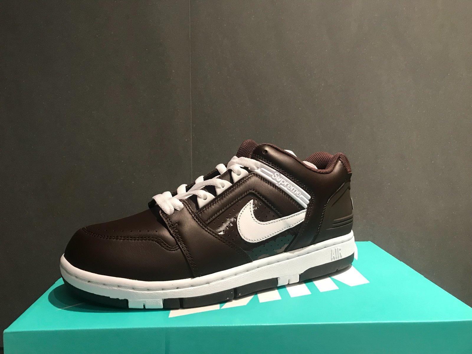 Nike X Air Force 2 Supreme Brown b7gyf6