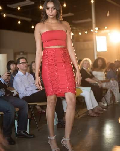 Image of Red Laceup 2 Piece Set